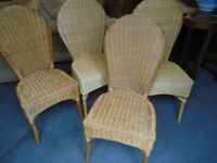 Dining chairs, wicker/rattan