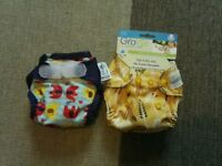 Immaculate newborn reusable nappies x 2