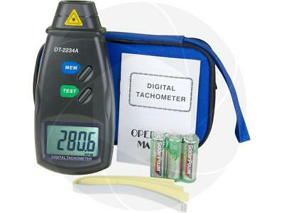 Handheld Digital Laser Photo Tachometer Non Contact Rpm Speed Tach Meter Tester
