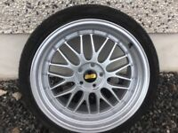 19INCH BY 9.5 - 5/100 BBS LM ALLOY WHEELS JUST HAD A COMPLETE REFURB LIKE NEW FIT VW SEAT AUDI ETC
