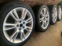 "As New 17"" Ford Focus alloy wheels +tyres 5x108 Transit connect TDCi Volvo C30 V70 Jag XE CAN POST"