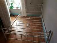 Metal bed double frame