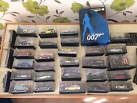 James Bond 105 collectable cars with full set of magazines