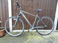 Carrera Crossfire mens cycle hybrid mountain bike 20 inches with suspension