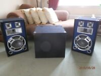 DJ Mixer and CD player with Speakers