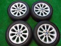 "BMW 1 3 SERIES 16"" ALLOY WHEELS WITH TYRES"