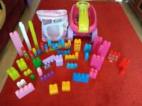 Mega Bloks and scooping trolly / wagon