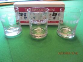 Famous grouse whiskey glasses. Collectors Rugby 1995 world cup
