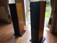 Linn Kaber speakers with Kustone stands