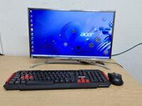 Acer all in one PC Computer i3-7100U Microsoft windows 10 8GB RAM 500GB SSD