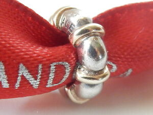 AUTHENTIC PANDORA ST.SILVER & 14ct.GOLD SEATTLE BEAD SPACER - 790266 - RETIRED
