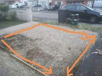 Gravel for the garden.