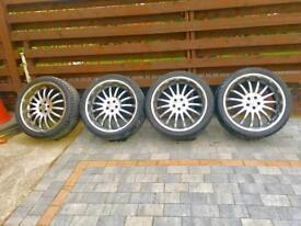 22 inch DYNAMIC RACING alloys and tyres (pcd 5x112