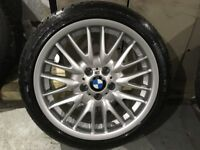 ALLOYS X 1 OF 18 INCH FRONT WHEEL BRAND NEW BMW MV1 WITH A DUNLOP TYRE FOR THE E46 BMW 3 SERIES