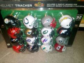 Rare box of unopened sealed NFL Helmets