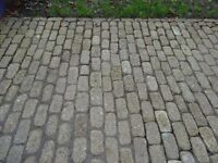 Tumbled yellow granite setts for sale