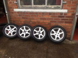 Alloy Wheels Ford Focus Inc new winter Tyre's 15 Inch