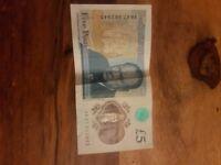 AK47 RARE NEW £5 NOTE