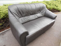 Black leather 3 seater sofa *can deliver