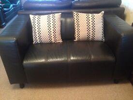 2seat leather sofa
