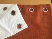 Next 'boucle' ring top curtains fully lined