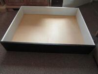 Ikea Underbed Storage Wooden Drawer on Castors 98x78x18cm.