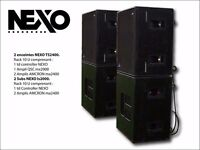 4 stacks of NEXO ts2400 and ls2000 plus controllers,very expensive when new
