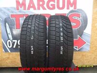 AA369. 2X 185/60/14 82H 2X5MM TOYO SNOWPROX S942 M+S - USED WINTER TYRES