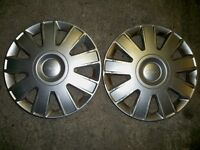 Ford hub caps, two of, 15 inch good condition