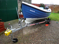 Orkney Longliner 17ft Day Boat 2008 Built in Buoyancy, new engine and SMS trailer