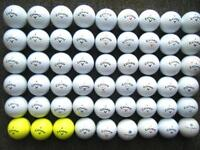 54 Callaway golf balls in excellent condition CXR power/control, supersoft, itour,