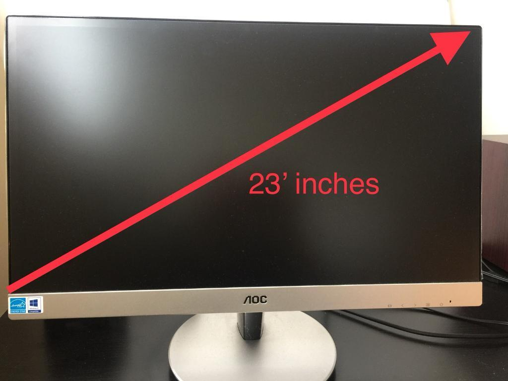 AOC 23' INCHES FLAT SCREEN LED BACK-LIT LDC MONITOR Never used - with original box