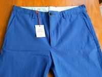Club Monaco Slim Fit Blue Trousers - 34x32 - New With Tags