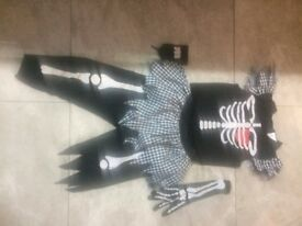 Childs Punky Skeleton Halloween costume