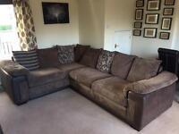 Large corner sofa & suite