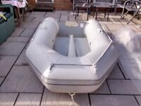 INFLATABLE DINGHY 270 2/3 MAN SOLID OUTBOARD TRANSOM , DINGY TENDER RIB SIB BOAT