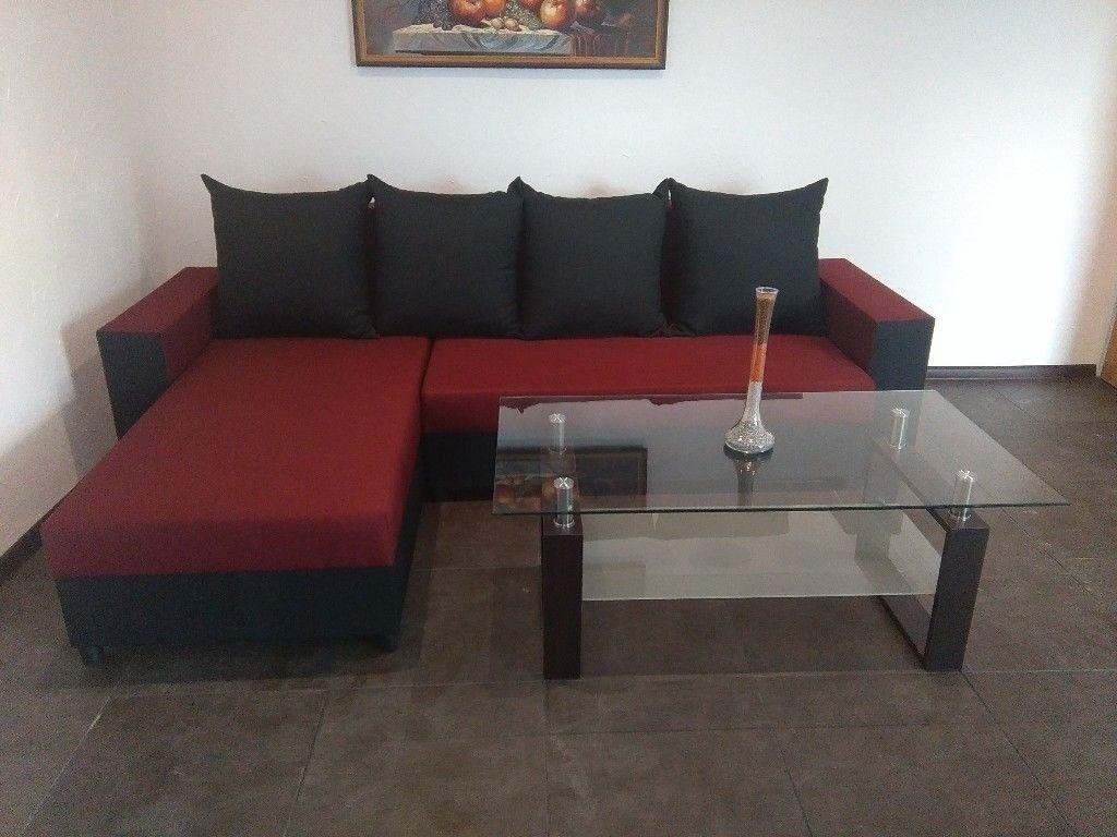 Brand New Newfabric Corner Sofa Bed Double Storage