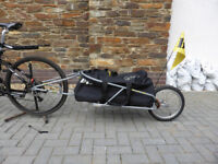 BOB YAK 16 single wheeled cycle trailer in as new condition.