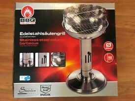 Stainless Steel Column Barbecue Ø 40 cm 68 cm high *BRAND NEW*