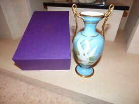 Porcelain Vase - by ex Royal Worcester Artist, Francis Clark - ##MUST GO##