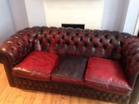 3 Seater Leather Chesterfield