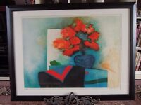 Framed Lithograph by French Artist Claude Gaveau