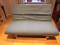 Duck Egg 2 Seater Futon, Double Wooden Futon Base with Mattress