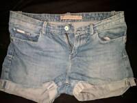 Calvin Klein blue jeans shorts, size w 28