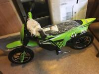 Zinc 24v electric dirt bike new with charger bargain