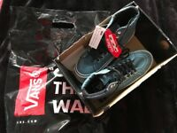 Brand New genuine Van / Vans ankle boots/ trainers denim with studs size 4 or euro 37