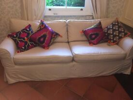 Lovely OKA 3 seater sofa in beige, barely used