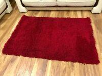 Quality Rug 100 x 150 cm - Ultra Soft - Dark Red