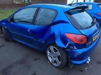 Peugeot 206 gti 180 damaged