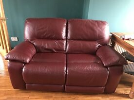 3 & 2 wine coloured sofa. 4/5 years old. Excellent condition.